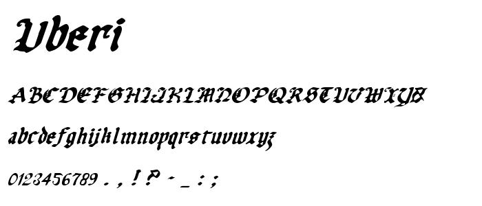 Uberi font
