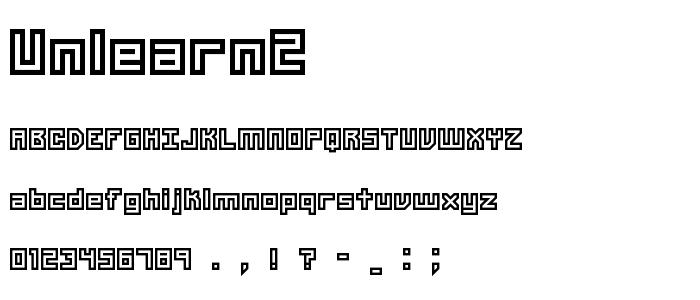 Unlearn2 font