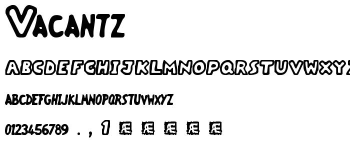 vacantz.ttf font