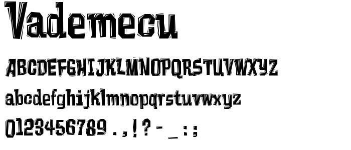 vademecu.ttf font