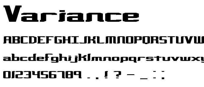 Variance font