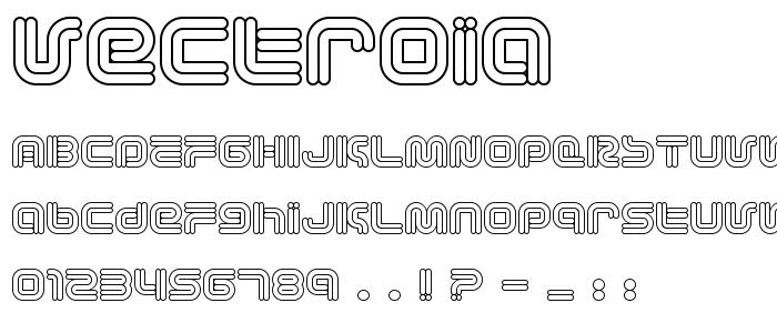 Vectroia font