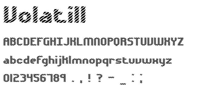 Volatil1 font