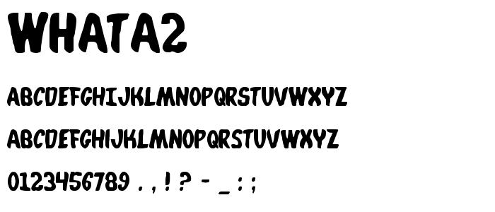 Whata2 font
