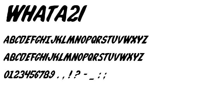 Whata2i font