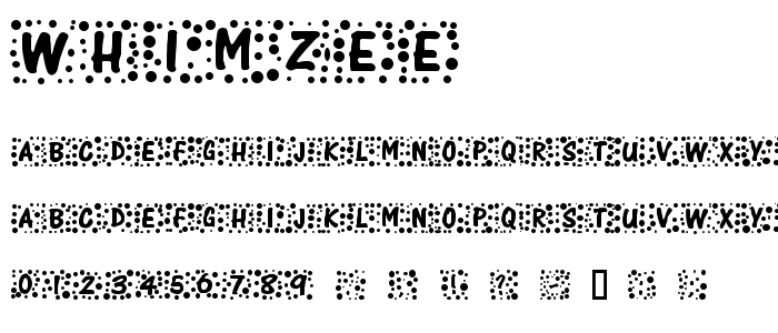 Whimzee font