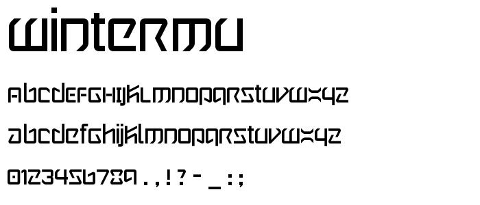 Wintermu font