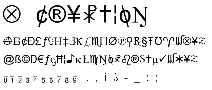 X Cryption font