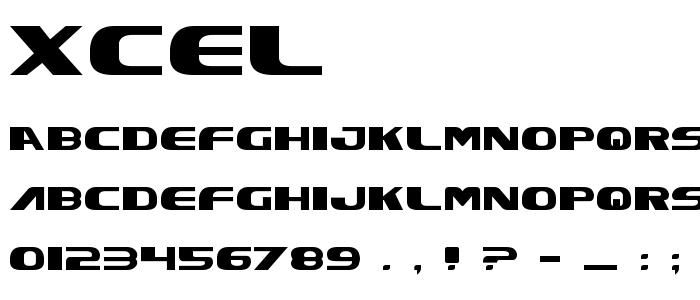Xcel font