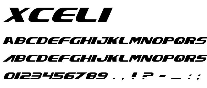 Xceli font