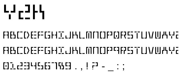 Y2k font