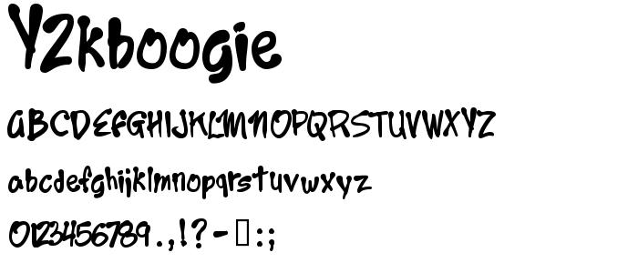 Y2kboogie font
