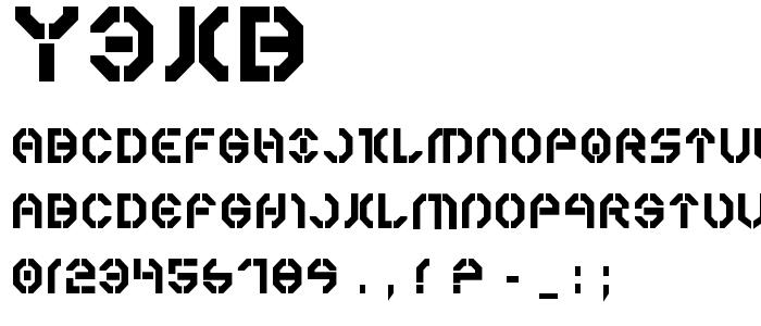 Y3kb font