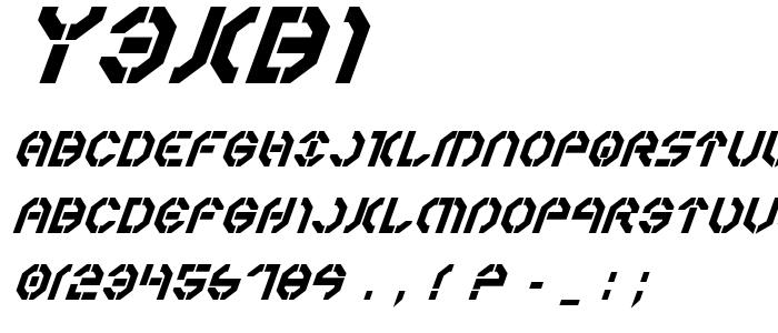 Y3kbi font