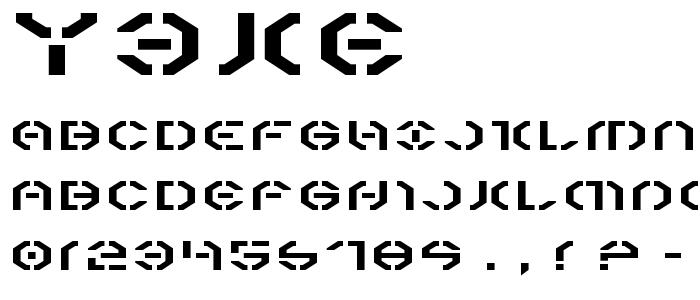 Y3ke font