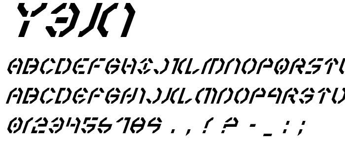 Y3ki font