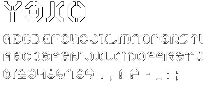 Y3ko font
