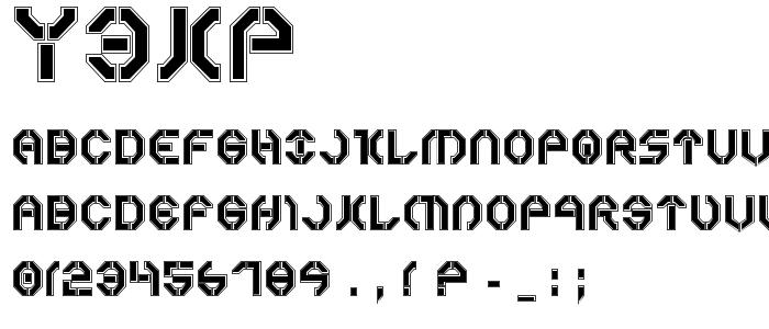 Y3kp font