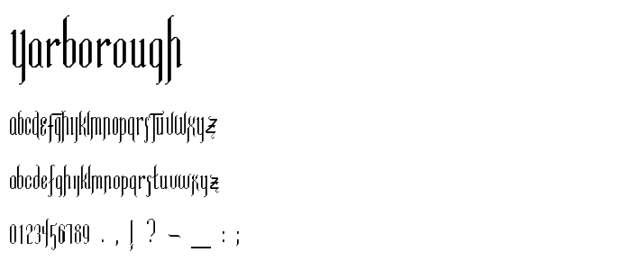 Yarborough font