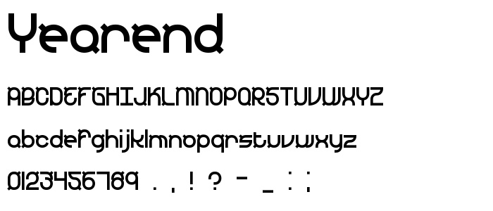 Yearend font