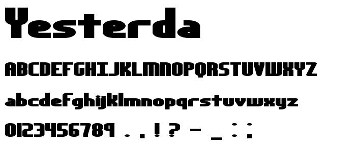 Yesterda font