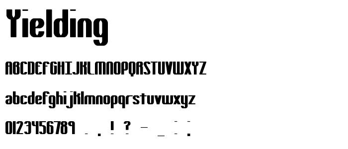 Yielding font