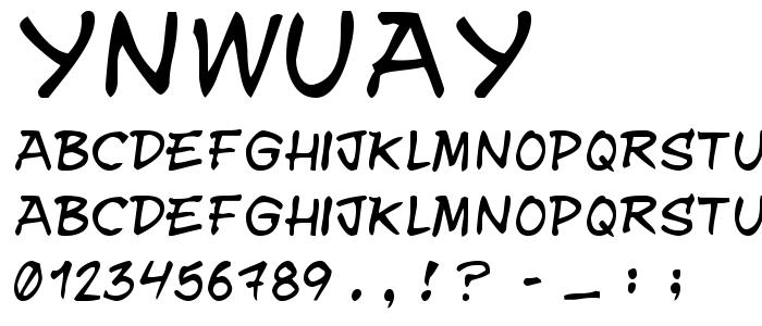 Ynwuay font