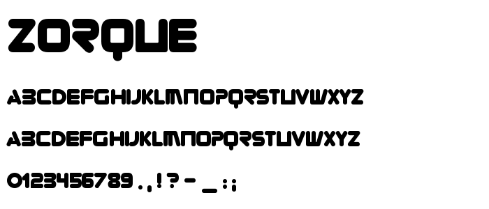 Zorque font